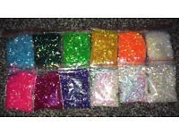 Iridescent nail glitter