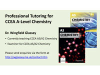 Tutoring for CCEA A-Level Chemistry