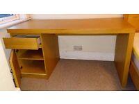 IKEA Malm office desk - Oak veneer