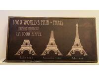 Vintage style Eiffel Tower painting