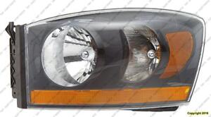 Head Lamp Driver Side With Black Beezel High Quality Dodge Ram 2006-2008