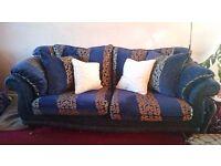 Large 2 seater fabric sofa