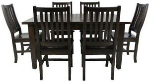 Mennonites made solid local maple wood dining table sets
