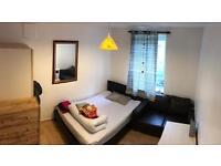 Single room double sized bedroom