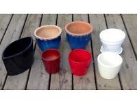 Various glazed pots