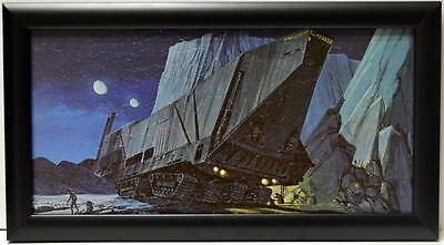 Star Wars R2-D2 OUTSIDE JAWA SANDCRAWLER FRAMED CONCEPT PRINT McQuarrie 1977 for sale  Shipping to Ireland
