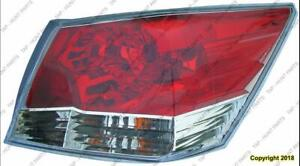 Tail Light Passenger Side Sedan CAPA Honda Accord 2008-2012