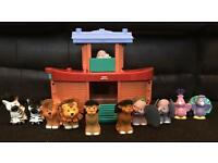 Noah's ark toy with Noah figure and animals by Fisher price little people