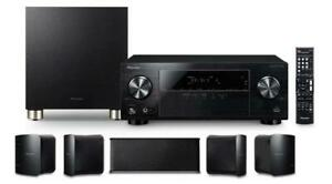 Pioneer 5.1 Channel 4K ULTRA AVR Home Theatre System. Dolby Surround Audio. Bluetooth. Subwoofer. Speaker. HDMI. Remote