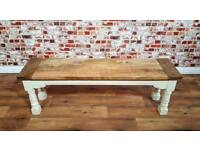 Rustic Farmhouse Kitchen Dining Bench Refectory Legs - Free Delivery