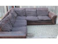 Very nice jumbo cord corner sofa-able to deliver too!