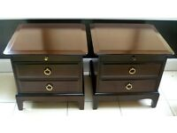 Pair of Stag Minstrel Bedside Cabinets Chests of Drawers