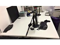 Herman Miller Office Desks, Bank of 8, White. Great condition