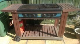 Large gas Barbecue with gas bottle. Sunshine make.