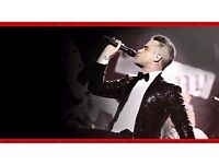 2 x Robbie Williams tickets at Etihad Stadium in Manchester on 3rd of June 2017