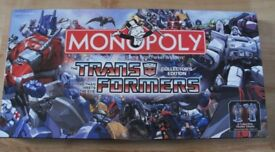 G1 Transformers Monopoly Board Game