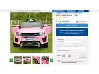 brand new in box Kids Pink Range Rover Car - Battery Powered
