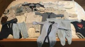 **Reduced** Upto 1 Month Baby Boy Clothes Bundle
