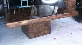 Brown marble coffee table like new
