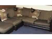 free corner sofa and stool