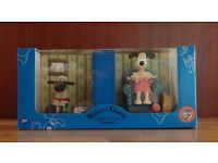 Wallace and Gromit collectibles -Gromit and Shaun the Sheep bookends