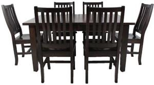 Mennonites Handcrafted Solid Canadian Wood Dining Table Sets