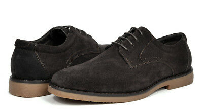 BRUNO MARC NEW YORK Mens Suede Leather Casual Flat Lace up Dress Oxfords Shoes