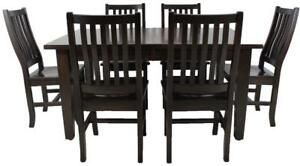 Mennonites made solid wood mission dining table sets - starts at $2238