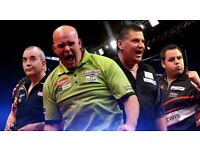 Premier league darts tickets Manchester 23rd march front table - next to players walk on