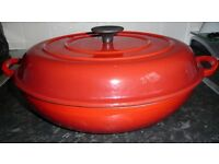 Brand-New Still in the Box Crofton 3.5 Litre Cast Iron Casserole Dish Heavy Duty. Colour-Red