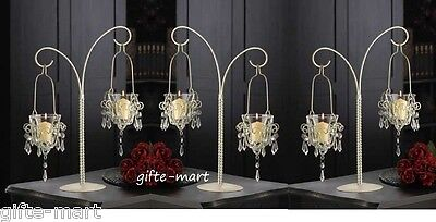 15 White Crystal chandelier Candle Holder candelabra wedding table centerpieces](Table Chandelier Centerpieces)
