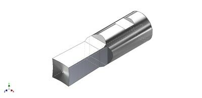 12 Square Rotary Broach Punch Fits 12 Shank Holder - Made In Usa - S05045b