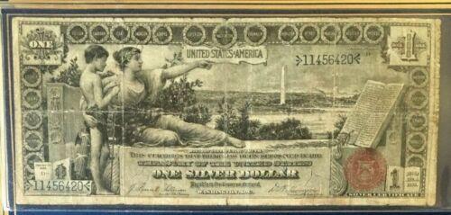 1896 $1 DOLLAR EDUCATIONAL LARGE US SILVER CERTIFICATE, REASONABLE