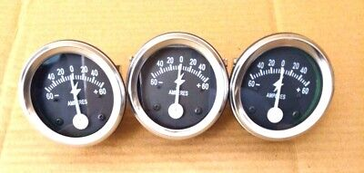 60 Amp Amperage Alternator Ammeter Gauge Farmall Ih Ford Chevy Dodge John Deere