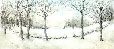 Wee Forest Folk Display Winter Back Drop