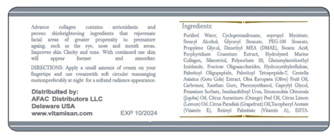 Colageno Hidrolizado Para Huesos ,Uñas, Piel + Crema de Colageno Antiarrugas 120 6
