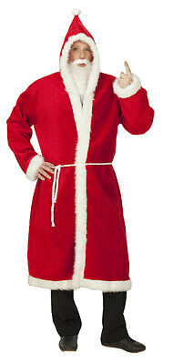 3 tlg. Nikolausmantel, Weihnachtsmann Mantel, PLÜSCH  Kostüm