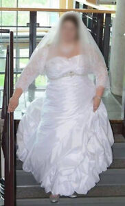 Designer Wedding Dress, size 20-22, but can be sized to 24.