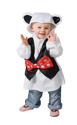 Kinderkostüm Maus mit Ohren Kostüm für Kleinkinder Faschingskostüm Baby Mäuschen