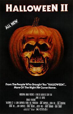HALLOWEEN 2 (1981) (62x40.5), Carpenter, Lee Curtis, CANVAS, POSTER FREE P&P
