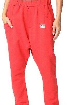 BAJA EAST Red Embroidered Harem Sweatpants Joggers Women's Shop Bop $325