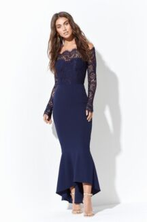 Black lace Diana dress size 10 AU