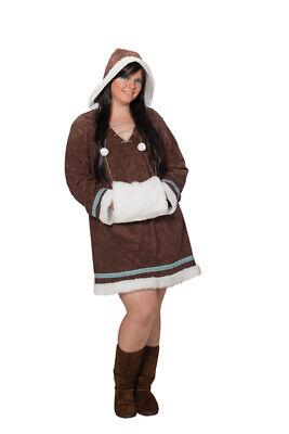 Eskimo Damen Kostüm (Eskimo Strassenkarnval Kostüm Damen Karnevalskostüm Fasching Sale Gr.44 1 3509)
