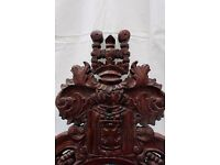 Antique Style Mahogany Thrones