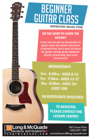 Rock Skools and  Beginner Guitar Class with Michel Pitre