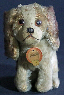Original Steiff Dog Charly #3310 with FF Button & Chest Tag