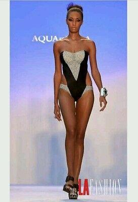 Agua Di Lara catwalk one piece swimsuit size 10