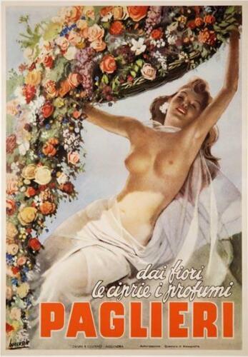 PAGLIERI VINTAGE ITALIAN POSTER GINO BOCCASILE 1950 13X19 INCHES