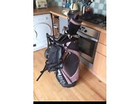 Ladies Wilson Hybrid X31 golf clubs with Powakaddy