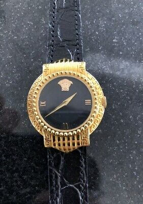 Gianni Versace Vintage Signature Gold Plated Medusa Watch